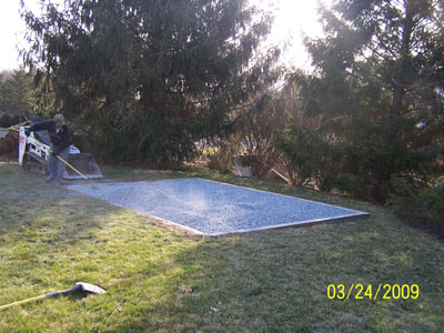 Wood Shed Turnkey Solutions - pad leveled