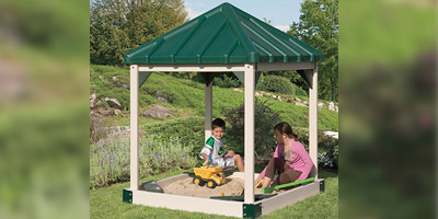 Custom Sandboxes for Kids Playsets with roof