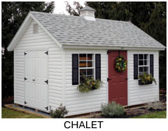 Compare Shed Styles - Chalet