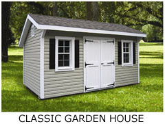 Compare Shed Styles - Classic Garden House