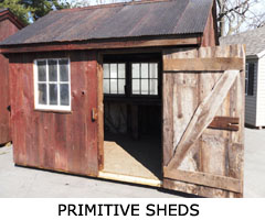 Compare Shed Styles - Primitive Shed
