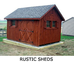 Compare Shed Styles - Rustic Shed
