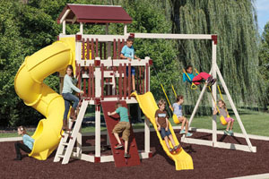 Vinyl Swingsets, Playsets & Playhouses