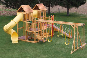 Wood Swingsets, Playsets & Playhouses